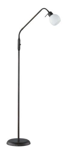 Trio Leuchten LED-Stehleuchte rostfarbig antik, inklusiv 1x E14, 4 Watt LED, zwei Flexgelenke, Höhe maximal 150 cm, Glas opal matt weiß 424810128