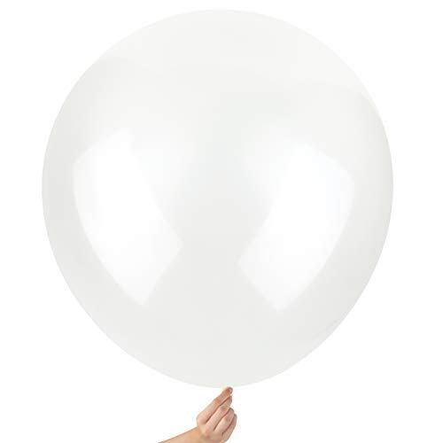 Comius Sharp Große Ballons, 10 Pcs 36 Zoll Runde Ballons, Extra große und Dicke Ballons wiederverwendbarer riesiger Latex-Ballon für Hochzeit Geburtstag Party Dekorationen Festivals (Transparent)