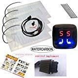 Universal LED 5 Gear Double Seat Square Switch Car Heating Pad Heated Seat
