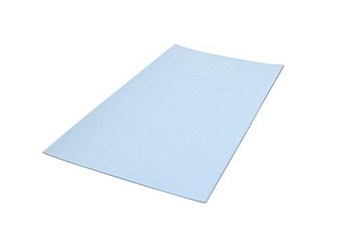 GleitGut Teflon Zuschnitt selbstklebend 100 x 200 mm - gestanzt - Teflongleiter extra dünn - nur 1,5 mm Gesamtstärke