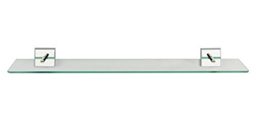 WENKO Power-Loc® repisa de vidrio Laceno - Estantería de baño, fijar sin taladrar, Plástico (ABS), 60 x 5.6 x 13 cm, Cromo