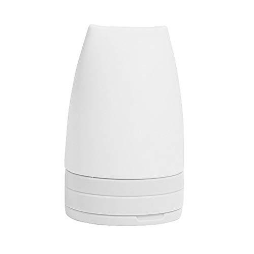 Xpccj Silikon Reiseflasche 60ml Lotion Home Hotel sy Clean Wiederverwendbar Nachfüllbar Squeezable Leakproof Duschgel Abnehmbare Handseife Mini Tragbarer ungiftiger Spender(Weiß)