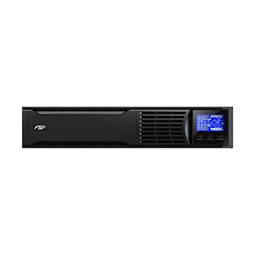 FSP Fortron Champ 2k Rack Mount, Online-USV, 2000 VA / 1800W, bis 300VAC, mit USB, RS-232 und intelligenten Steckplatz für zusätzliche Schnittstellen, wie Protokollwandler oder Relaiskarten
