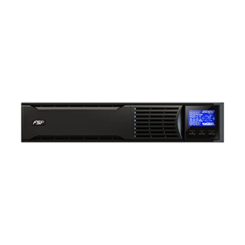 FSP Champ Rack Mount 1K, Online UPS, Sistema de alimentación ininterrumpida Doble conversión en línea, 1000 VA / 900W, 200 a 300VAC, con USB, RS-232 y ranura inteligente para interfaces adicionales