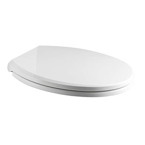 Woodbridge Toilet Seat with Cover, White,...