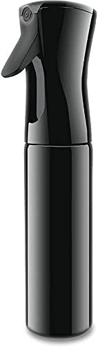 Pulverizador Agua Spray en Bruma Continuo Bote Atomizador Botella Rociador Difusor Bottle Vacio Vaporizador Cabello Plantas Frasco Pelo Peluqueria (10.1oz/300ml Negro)