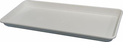 SOTTOVASO RETTANGOLARE BIANCO in resina per VASO FESTONATO da 60 cm