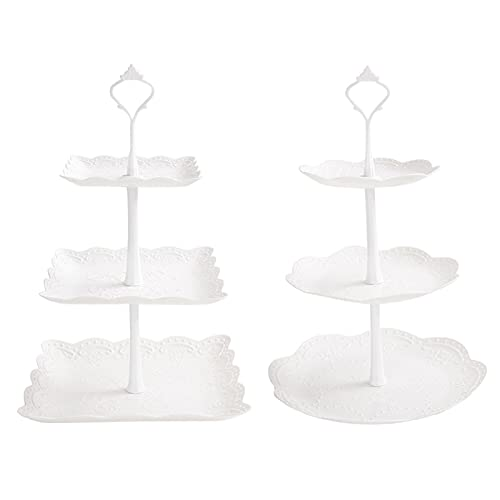 2 Set of 3-Tier White Cake Stand/Holder Dessert...