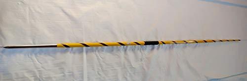 SKS Javelin Throw Stick Double Colour Yellow with Black 700 Grams