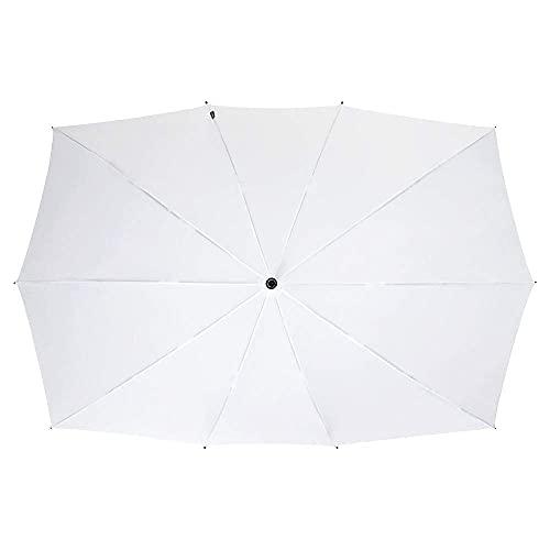 VON LILIENFELD Regenschirm Partnerschirm Hochzeitsschirm XL 148 cm x 99 cm Damen Herren Fiberglas 10 Stangen Sehr Stabil Maxi weiß