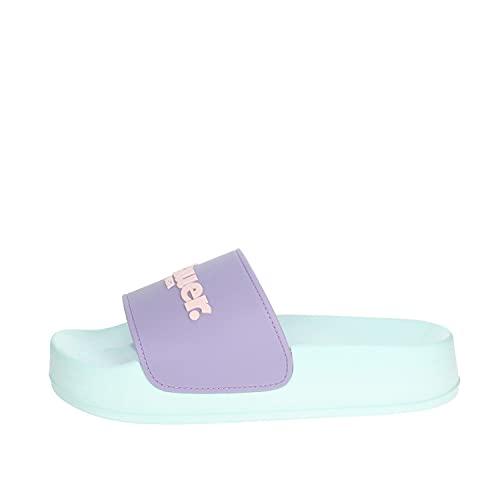 Blauer Ciabatte Sandali Girl Donna Pantofole Mare Sport Piscina S1YUBA01 LIGHT BLUE