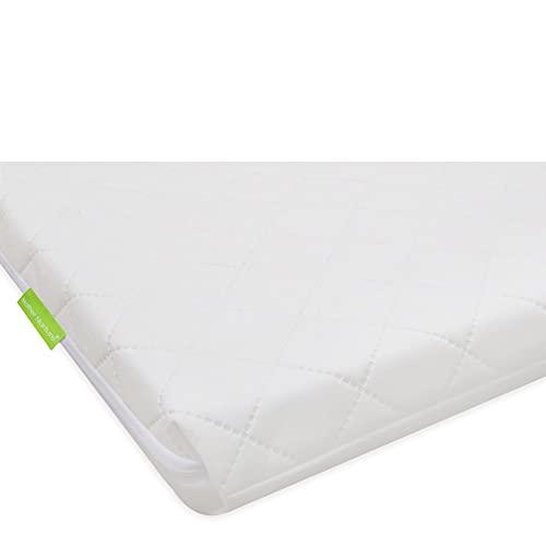 Mother Nurture Classic Foam Travel Cot Mattress, White, 95 x 65 x 3.5cm