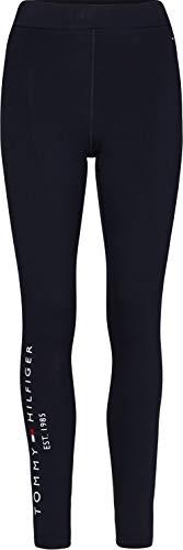 Tommy Hilfiger Damen Hilfiger Logo Legging Hose, Blau (Desert Sky), L