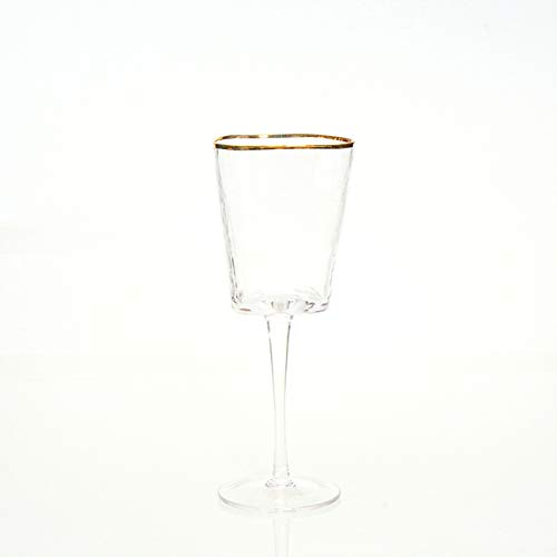 Copas de cristal de cristal, copas de champán triangulares Phnom Penh color brillante (2 piezas) transparente color A