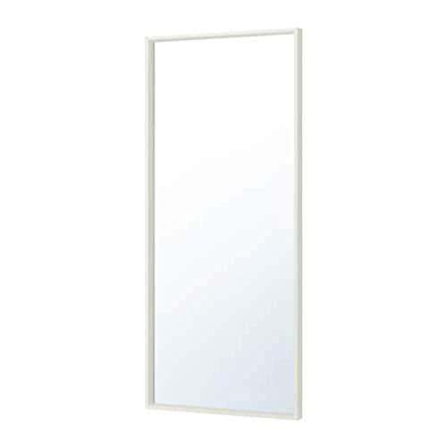 IKEA 103.203.17 Nissedal - Espejo (tamaño 25, 5/8 x 59), color blanco