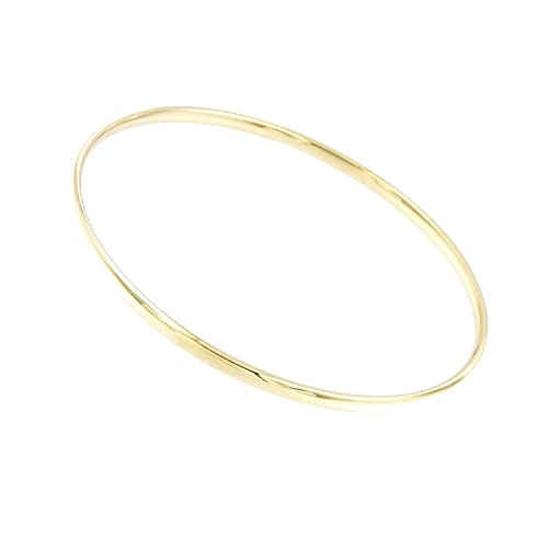 Lucchetta Schmuck - Armreif Echtgold Damen 9 karat Gelbgold, Armband Damen Gold 375, 3.60gr 20cm