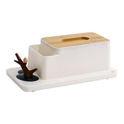 Caja de pañuelos con almacenamiento, caja de papel de seda multifunción para dormitorio, sala de estar, oficina, escritorio