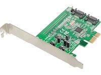 Dawicontrol DC-600e RAID Blister 2-Kanal SATA 6G SATA 3 RAID 0 1 JBOD Backup PCI-Express 2.0 x1 Controller LowProfile