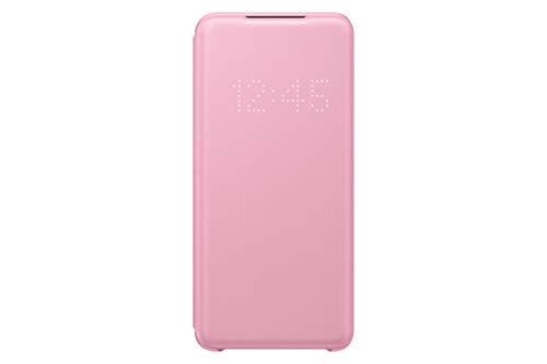 Samsung LED View Smartphone Cover EF-NG980 für Galaxy S20   S20 5G Handy-Hülle, LED-Anzeige, Kartenhalterung, pink
