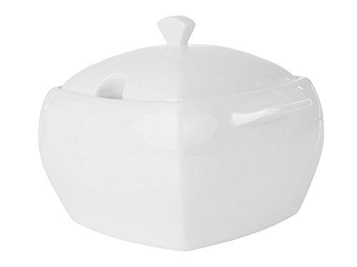 AMBITION Suppenschüssel Suppenschale Suppenterrine mit Deckel aus Porzellan Kubiko 4,1 L