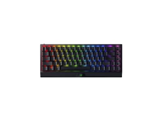 Razer BlackWidow V3 Mini HyperSpeed (Interruptor Verde) - Teclado para juegos 65% compacto con interruptores mecánicos (lineales y de clic, iluminación RGB Chroma) Teclado Americano, negro