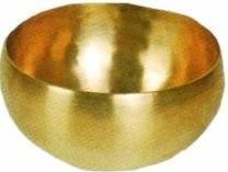 Peter Hess® Himalaya-Klangschale kleine Herzklangschale ca.16 cm Durchmesser, ca. 8,5 cm hoch, ca. 600-650 g mit einfachem Schlägel