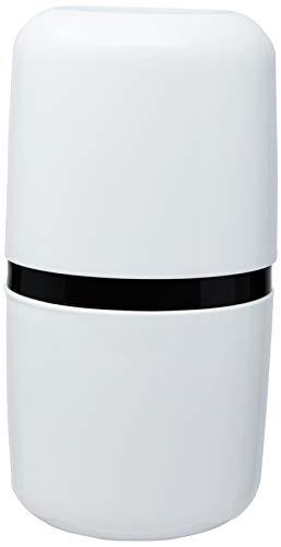 Porta Escova com tampa Full, 10,6 x 7,7 x 21 cm, Branco, Coza