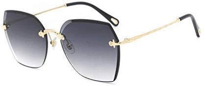 AQWESD Gafas de Sol Deportivas, Gafas de Sol sin Montura de gradiente de graduación de Moda Gafas de Sol cuadradas de Personalidad Polígono Gafas de Sol Accesorios