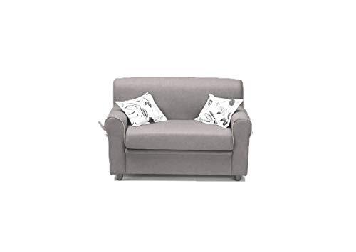 Am Group Home Divano 2 Posti Divanetto Salotto Soggiorno Zona Living Tessuto Moderno divani Slim (Grigio)