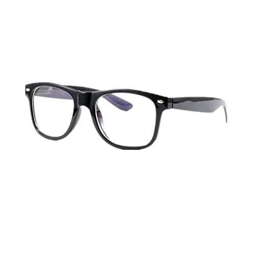 Nerd Glasses Buddy Wayfarer Black Frame Clear Lens