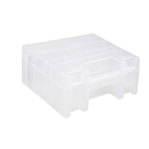 X-DREE Caja de almacenamiento portátil de la batería Contenedor de soporte protector para baterías AAA/AA (Porte-pile Compartiment rangement batterie portable multifonction