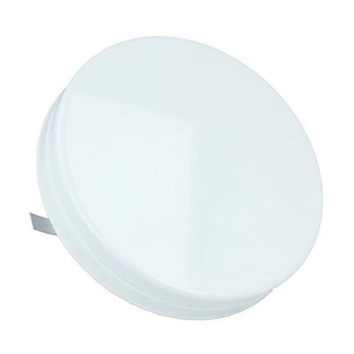 Zuluftventil Deckelventil Tellerventil Weiss RAL 9016 pulverbeschichtet Frischluftzufuhr Zuluftgitter Lüftung Belüftungsventil verstellbar verschiedene Größen (100mm)
