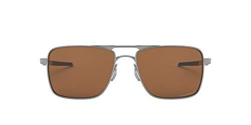 Oakley Men's Titanium Man Sunglass 0OO6038 Polarized Square Sunglasses, SATIN CHROME, 57 mm