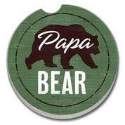 Highland Home Absorbent Stone Car Coaster - Papa Bear 1 Pack