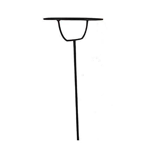 linoows Taumelfackel Stativ, Fackelhalter, Fackelständer im Retro Design, schwarz