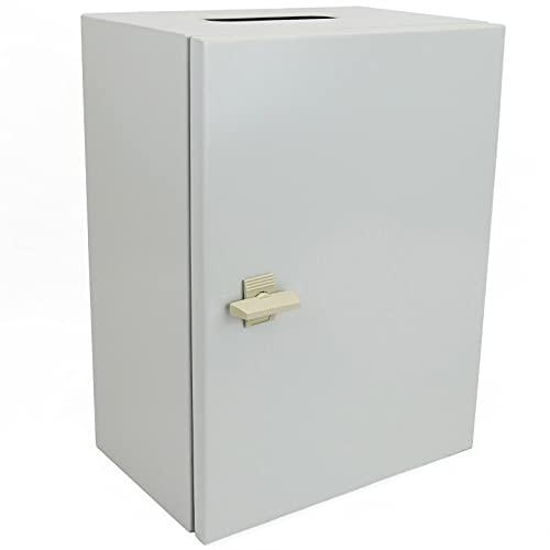 BeMatik - Caja de distribución eléctrica metálica con protección IP65 para fijación a Pared 300x200x150mm