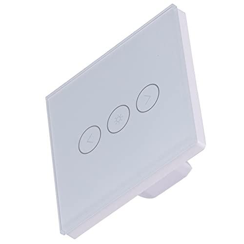 Interruptor táctil de Pared, Conveniente Interruptor táctil Compatible y Duradero Control Remoto para lámparas LED de atenuación Continua Lámparas incandescentes