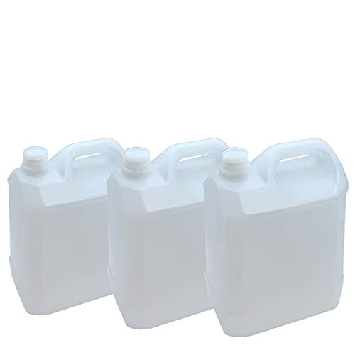 Set de 3 Garrafas de Plástico Alimentario, Bidones de Agua, Tanque Agua, Jarra con plástico 5 litros 26 x 19 x 14 cm