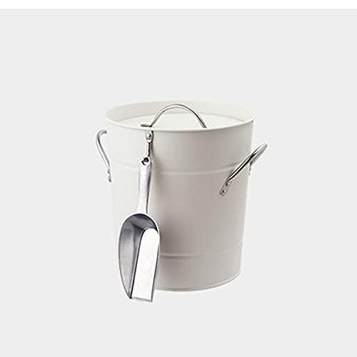 YILIAN Silver Silver Silver Champagne Wine Bucket Punch Drink Bebida Hielo Cooler Fiesta Estilo Francés (Color : White)