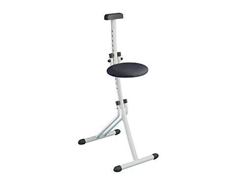 Leifheit Multisitz Niveau, rückenschonende Sitz- & Stehhilfe, Bügelstehhilfe belastbar bis 100 kg, 13-fach höhenverstellbar von 45 bis 85 cm, platzsparend zusammenklappbar, weiß