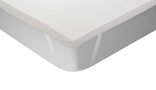 Classic Blanc - Topper/Sobrecolchón viscoelástico termorregulador, color blanco, 105x200cm-Cama 105 (Todas las medidas)