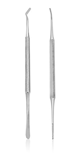 BlueOrchids Pedicure Kit: Ingrown Toenail Tool- Nail File and Lifter Set. Premium Grade Stainless Steel Nail Tools Supplies
