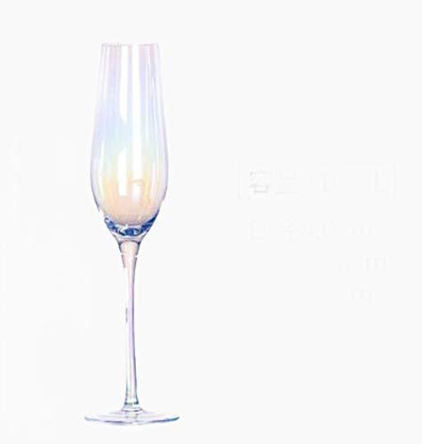 Copas De Champán, Tazas, Regalos Viento Arco Iris Cristal Cambio Gradual Copa De Cristal De Siete Colores Norte De Europa Deslumbramiento Copa De Vino Copa De Champán Copa De Vino Tinto