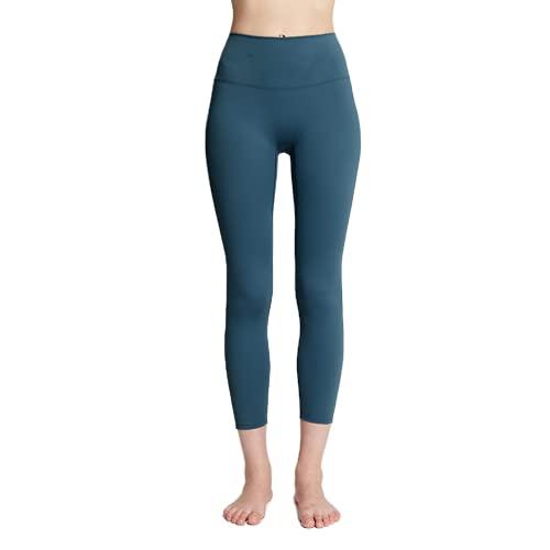 Pantalones de Yoga para Mujer elásticos de Secado rápido de Cintura Alta Push-ups Anti-Sentadillas Gimnasio Mallas para Correr BM