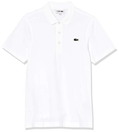 Lacoste Herren Sport, Poloshirt L1230-00, Einfarbig, Gr. Small (Herstellergröße: 46)(T3), Weiß (001 BLANC)