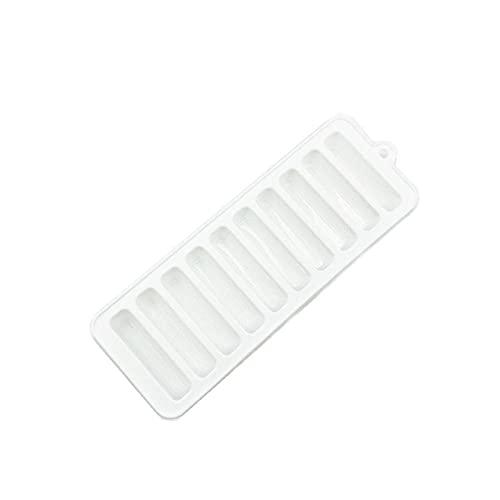 Molde de la bandeja de hielo de silicona 2 unids con la tapa de la calificación de la calificación de silicona de la calificación del cubo de hielo con la tapa del hogar de la caja de hielo creativo Caja de hielo-A01.