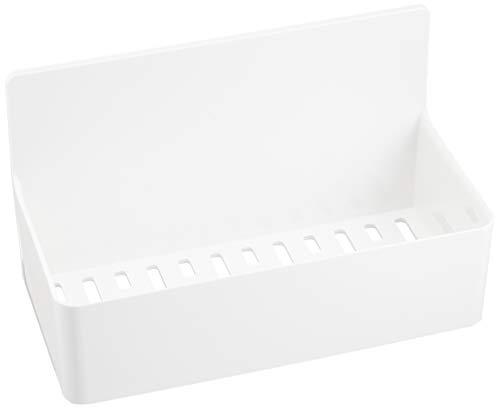 東和産業 浴室用ラック ホワイト 約19.2×9.4×11.2cm 磁着SQ マグネットバスポケット 39207