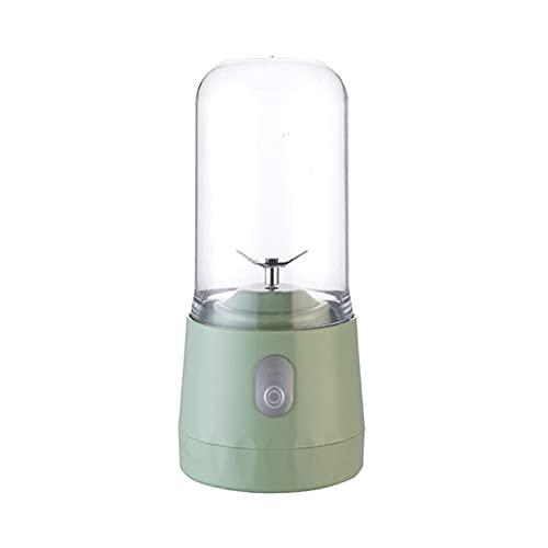 350 ml Ecuador eléctrico Smoothie Blender Cup 4-Blade USB Clacks portátiles Máquina de procesamiento de Alimentos electrodomésticos (Color : Green, Tamaño : One Size)