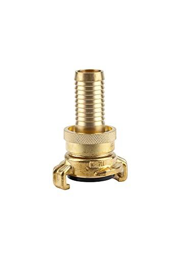 Gardena Messing-Saug- und Hochdruckkupplung für 19 mm (3/4 Zoll)-Schläuche: Kupplung für Schläuche und Saugleitungen, bis 40 bar, lösungssicher (7120-20)