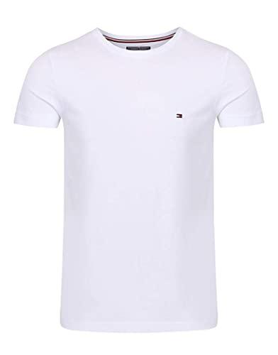 Tommy Hilfiger Herren CORE Stretch Slim CNECK Tee T-Shirt, Weiß, Large